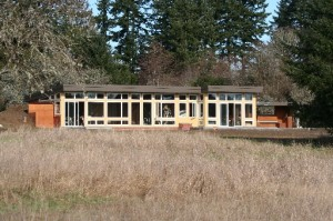 Our passive solar bermed home