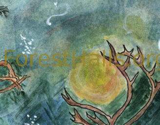 Gift of the Antlered Deer Mother - art by Jane Valencia